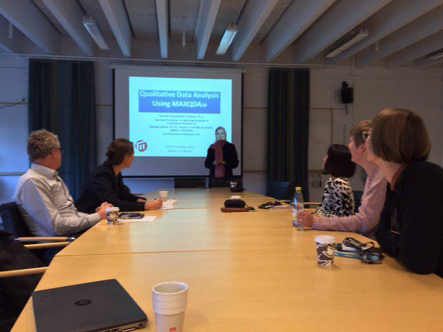 Workshop on Qualitative Data Analysis using MAXQDA-10, Malmo University, Sweden, 2015